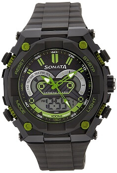 Sonata Chronograph Black Dial Men's Watch – 77030pp02
