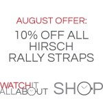 August's Special Offer – 10% off Hirsch Rally Straps!