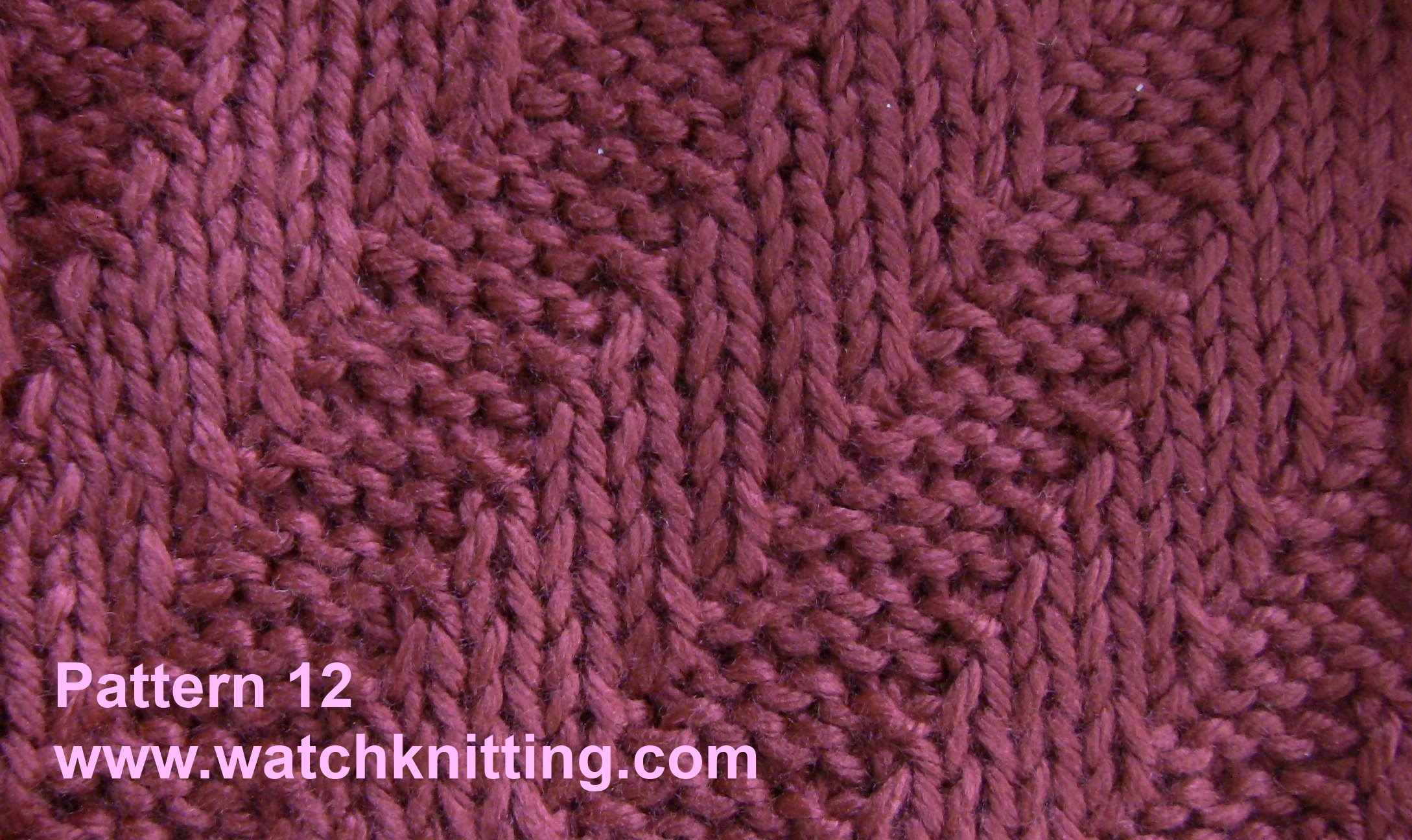 Easy Knitting Patterns Instructions : Stitch tilt stripe