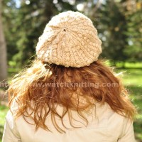 How to knit a Beret with regular needles