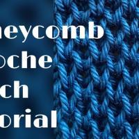 Honeycomb brioche stitch tutorial – stitch no.33