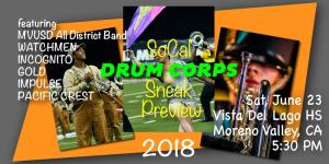 SoCal Drum Corps Preview –  2018