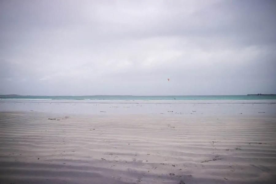 A sandy beach in Scotland.