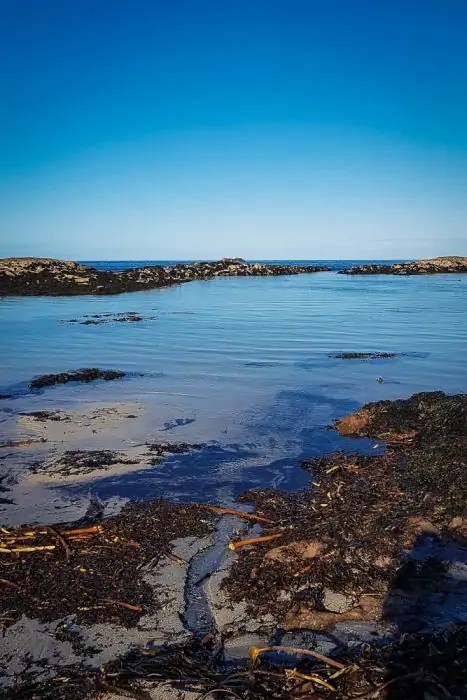 The shallow waters of Cliadh Beach on Coll