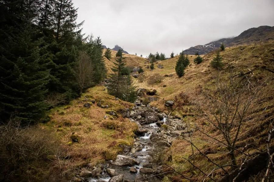 Hiking in the Arrochar Alps by Loch Lomond.