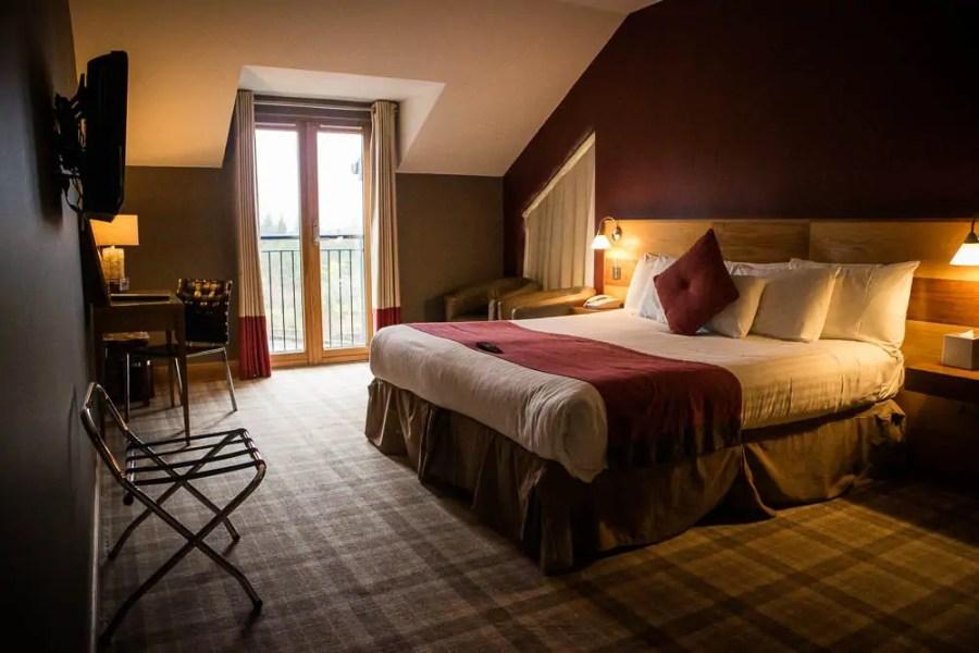 My room at The Inn on Loch Lomond hotel in Inverbeg