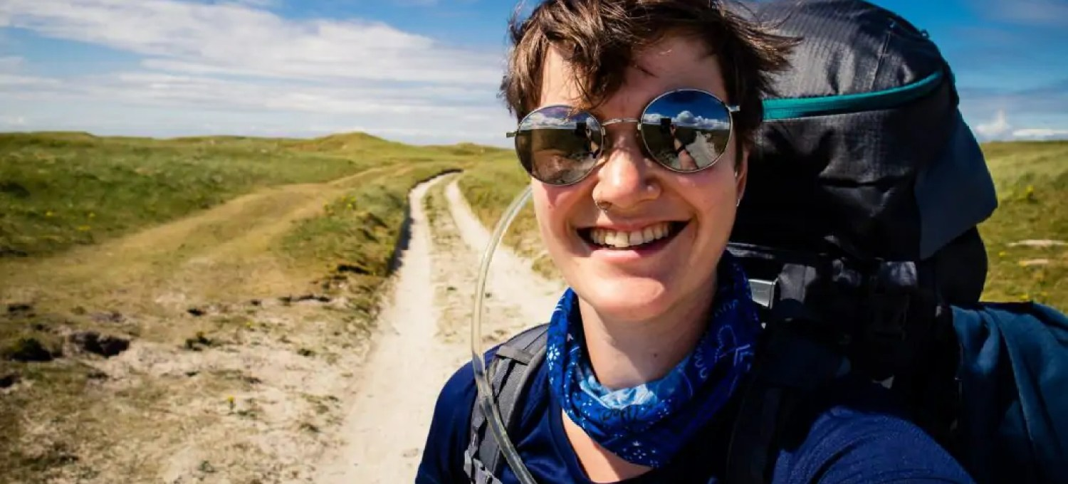 7017042bf630 Day 2 Girl walking on South Uist - The best trekking backpacks   their must-