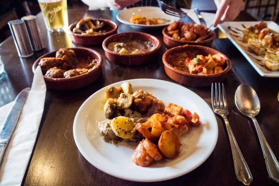 Vegan tapas at Tapas Ducal in Dunfermline, Fife.