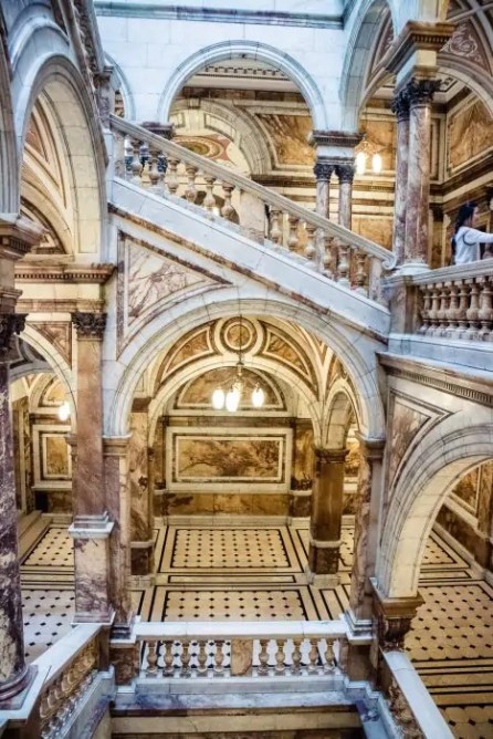 The Carrara Marble Staircase at the Glasgow City Chambers.
