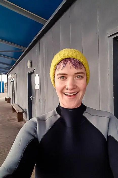 Kathi Kamleitner in a wet suit