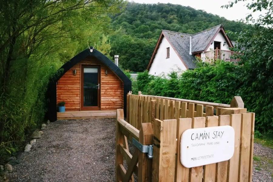 Caman Stay micro lodge via AirBnB in Glencoe in Scotland