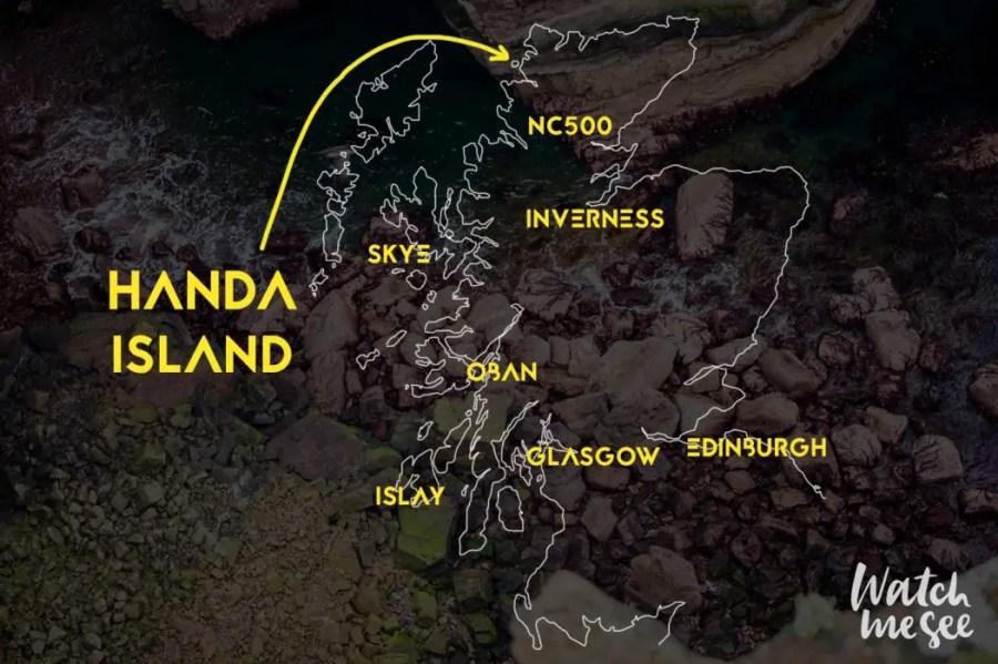 Handa Island on Map