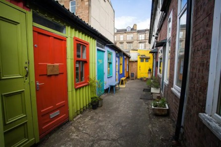 The colourful workshops at the Hidden Lane Glasgow.