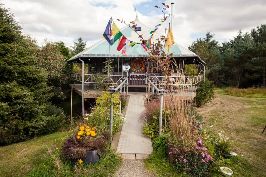 The vegan cafe Lastworks Bus Canteen in New Pitsligo in Aberdeenshire
