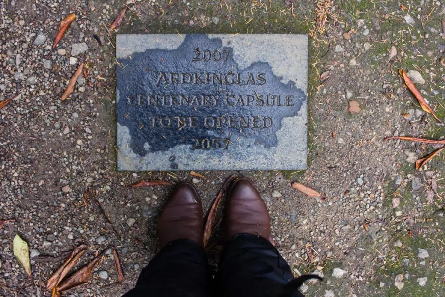 A time capsule buried at Ardkinglas Woodland Garden.