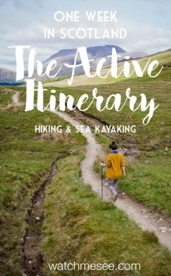 Hiking and kayaking can get your closer to nature than any road trip can - especially when you visit Scotland. Find out how in my active Scotland itinerary!