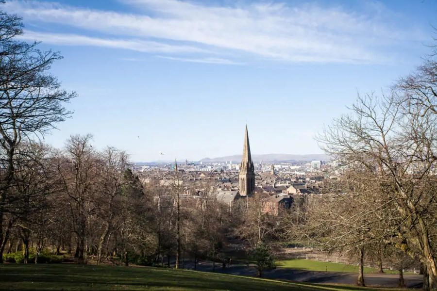 The view point by the flag pole at Queen's Park in Glasgow.