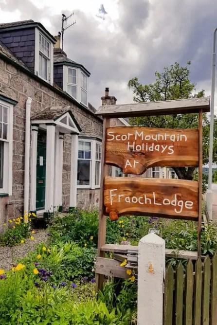 Fraoch Lodge in Boat of Garten along the Speyside Way.