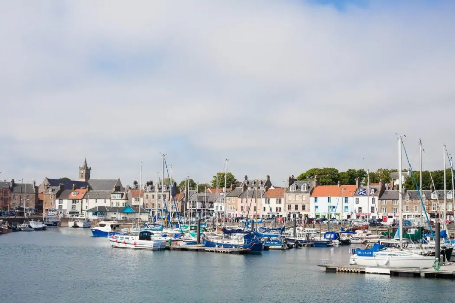 The colourful harbour of Anstruther makes for a great day out in Fife.