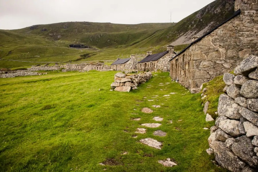 The remains of the village on St Kilda