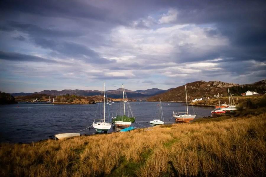 North Coast 500: Badachro harbour