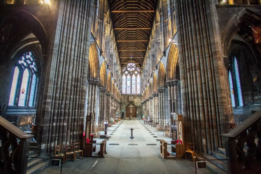 The interior of Glasgow Cathedral.