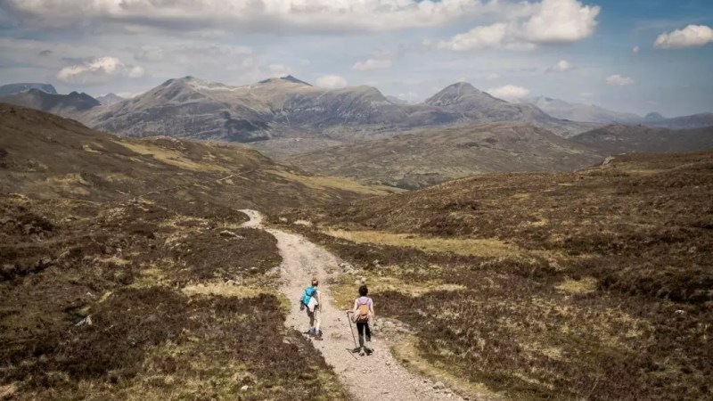 A walking holiday in Scotland.