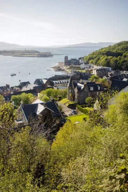 View from McCaig's Tower in Oban