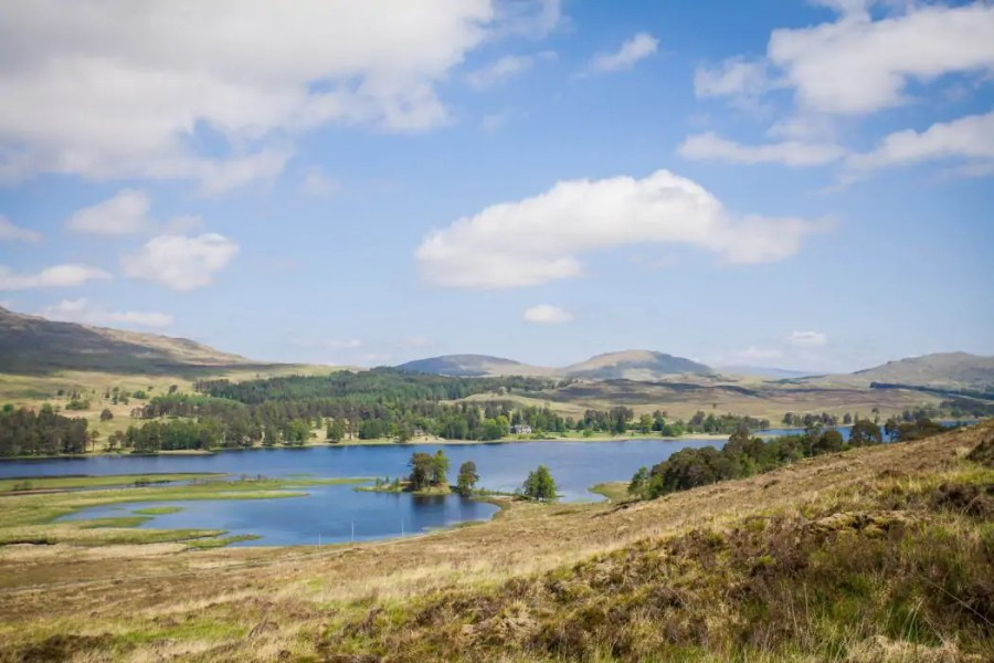 View over Loch Tulla in the Scottish Highlands.