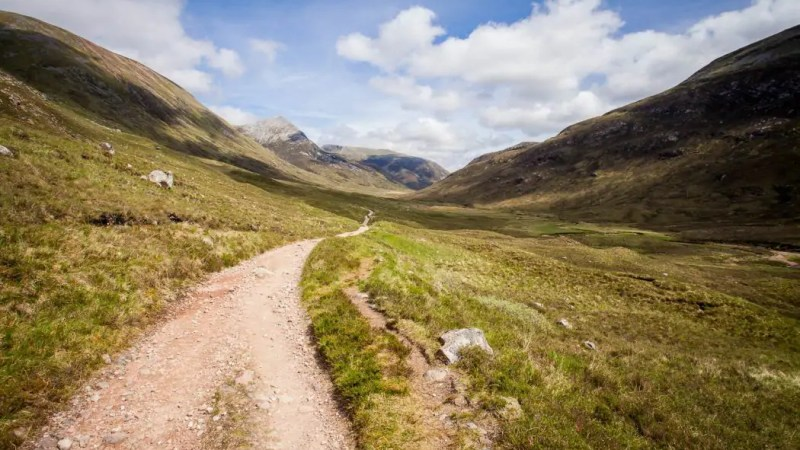 Walking the West Highland Way.