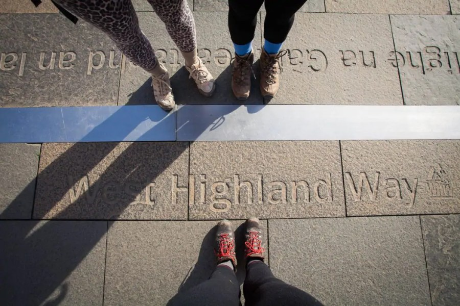The West Highland Way finish line in Fort William