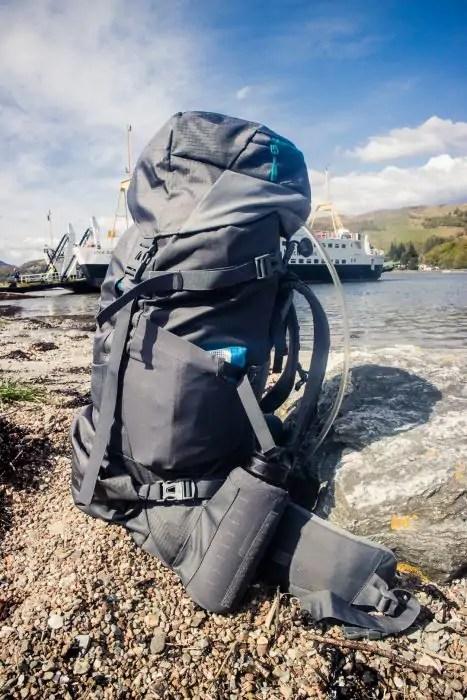 bb3c5e3023ca A Vaude trekking backpack by a ferry terminal in Scotland. - The best trekking  backpacks