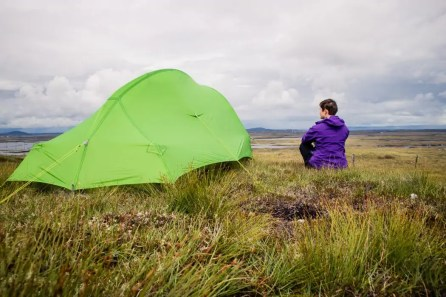 Wild camping on South Uist.
