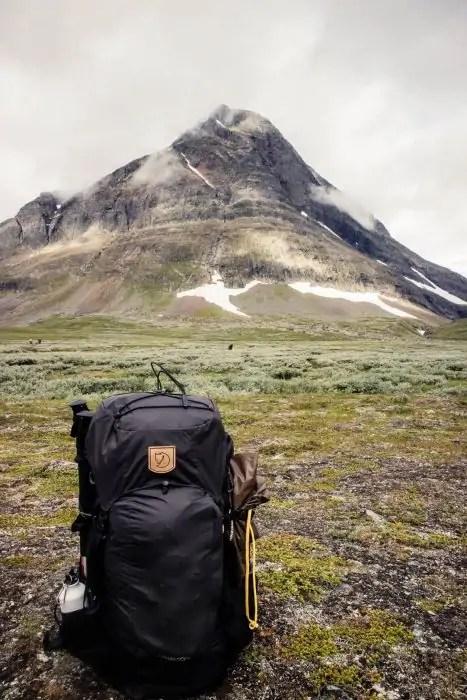 7721c48b1287 A Fjallraven trekking backpack in the mountains of Sweden. - The best trekking  backpacks