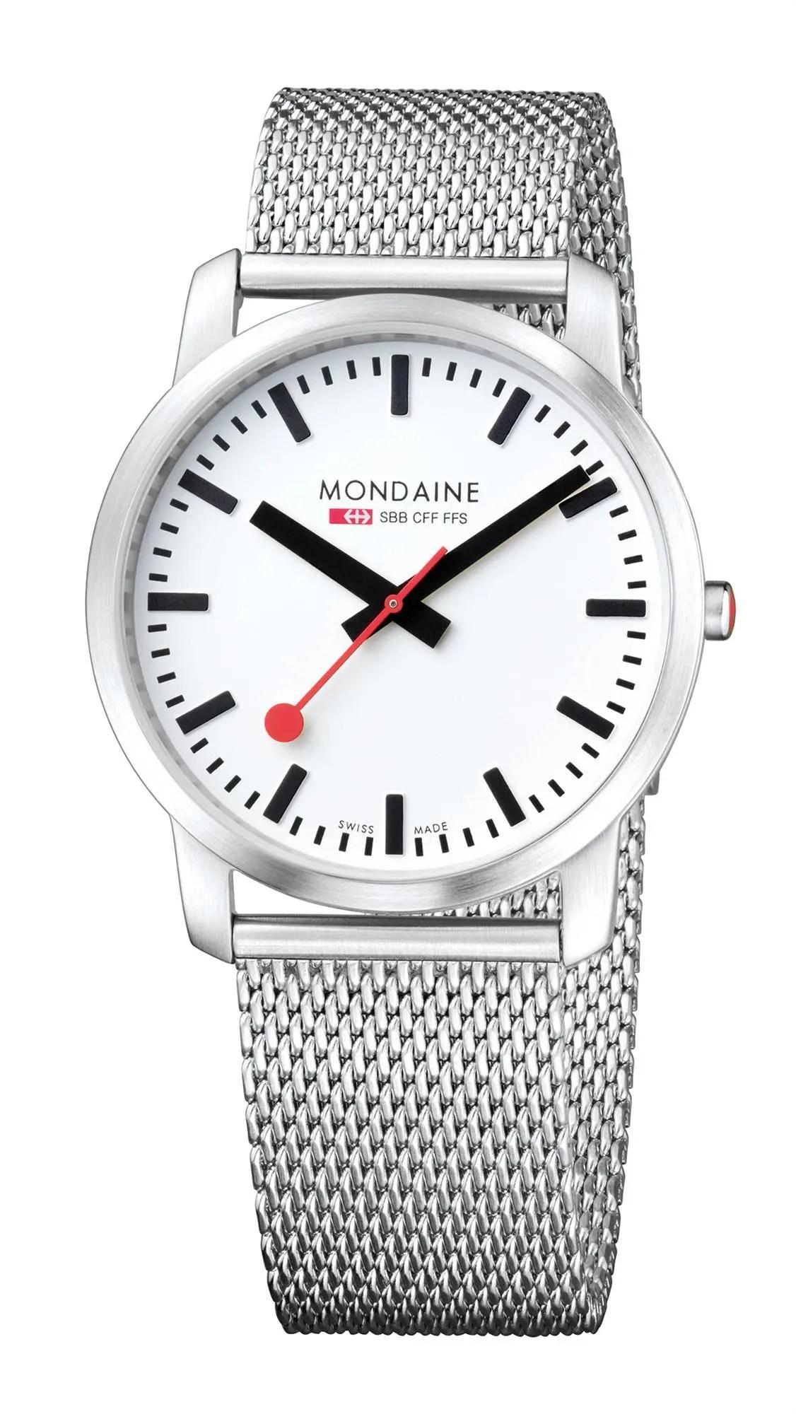 Mondaine Simply Elegant Stainless Steel Mesh Bracelet Men