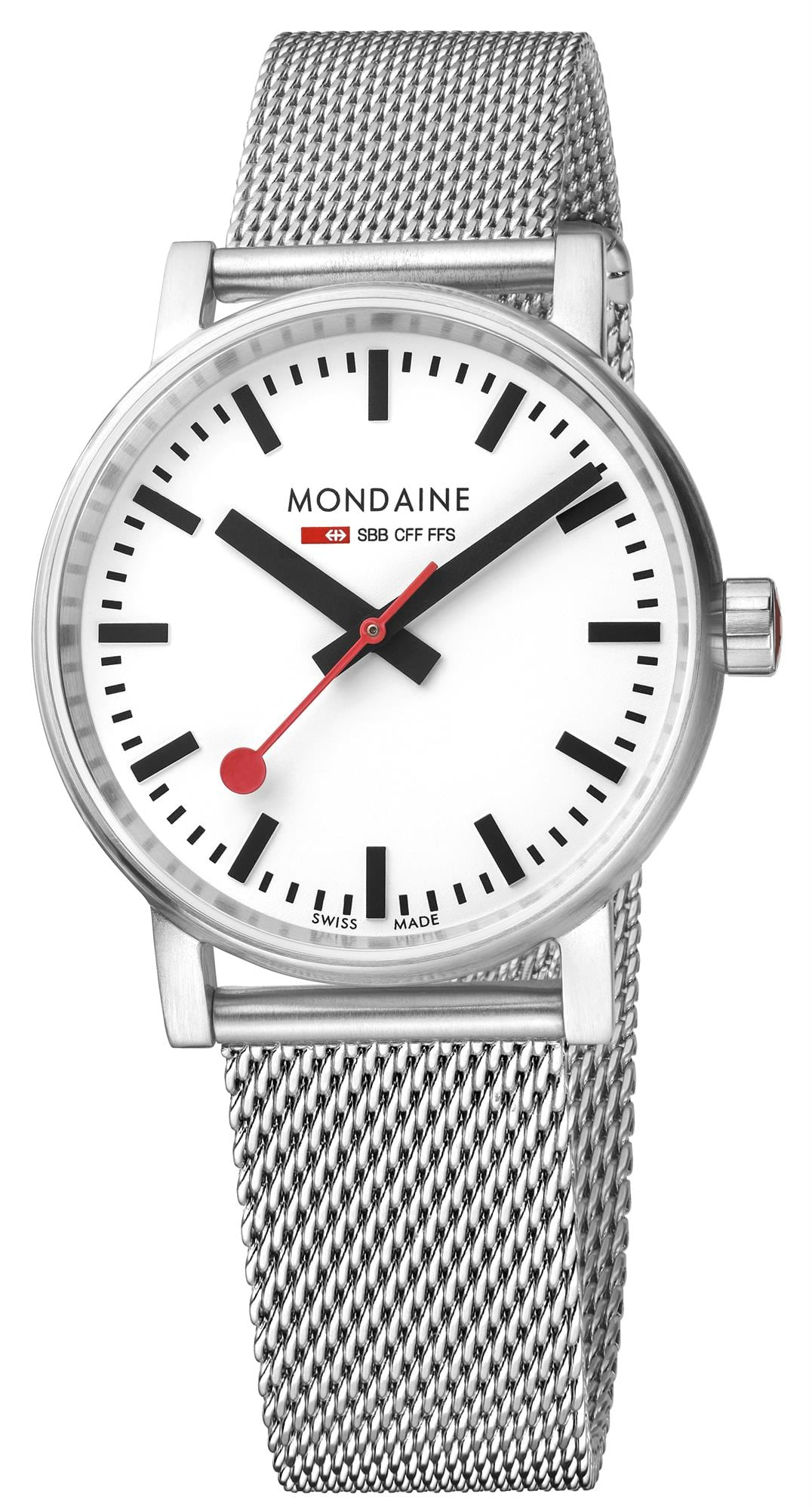 Mondaine evo2 Stainless Steel Case Stainless Steel Mesh
