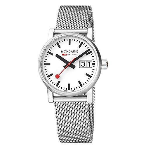 Mondaine evo2 Big Stainless Steel Case Mesh Bracelet Men's