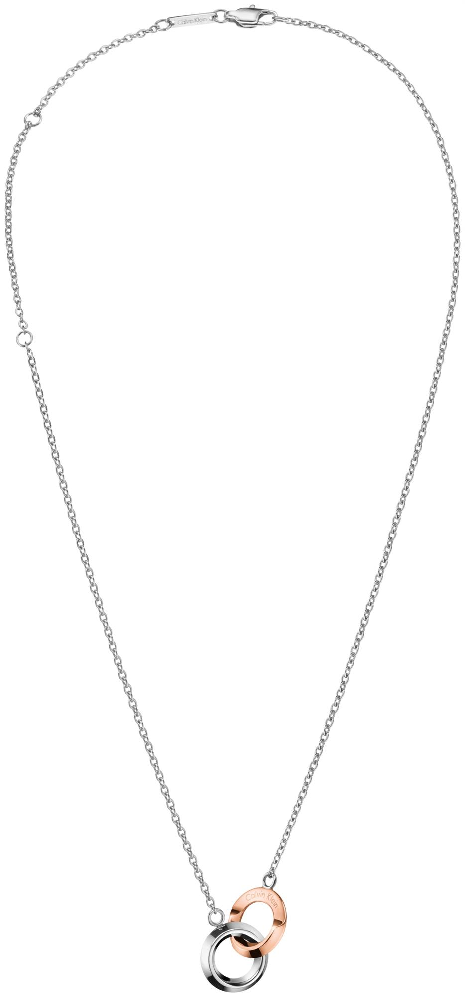 Calvin Klein Beauty Silver Stainless Steel Ring Pendant