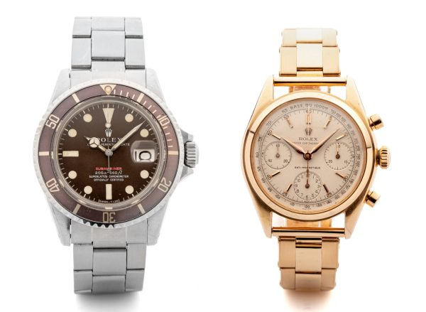 Rolex watches set three world records at auction