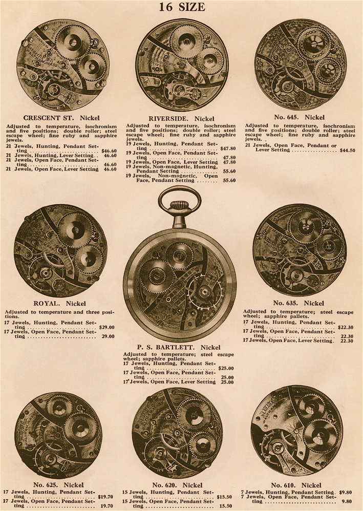 pocket watch movement diagram citroen c5 2004 wiring antique waltham repair mechanical 14 size watches came in various jewel counts from 7 all the way through 21 jewels and a variety of configurations models such as