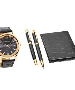 Pierre Cardin Geschenk Set Uhr & Geldbörse & Kugelschreiber PCX7870EMI