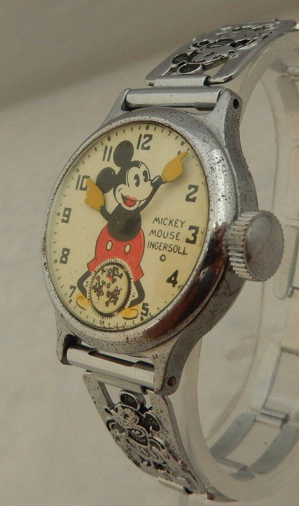 1930' Ingersoll Mickey Mouse Watch Original Bracelet
