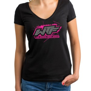 Ladies V Neck Pink Shirt