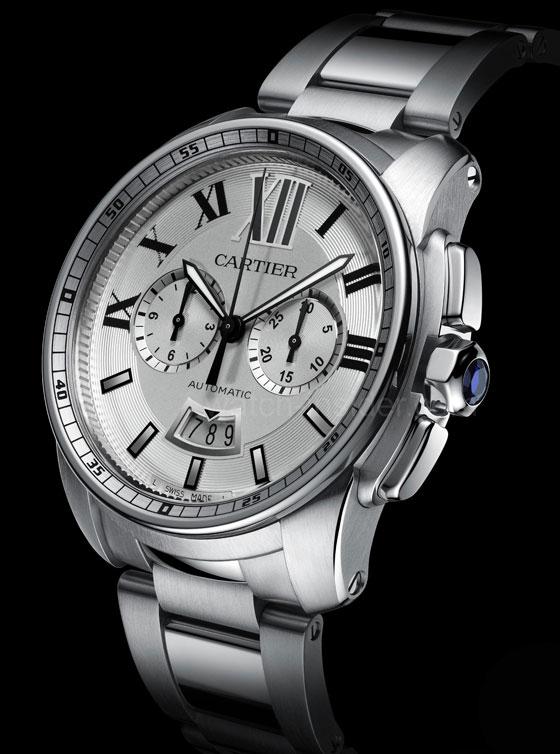 www.watchtime.com   blog    Watch Insiders Top 10 Chronographs of 2013   Cartier Montre Calibre de Cartier chronographe Mouvement 1904 CH MC