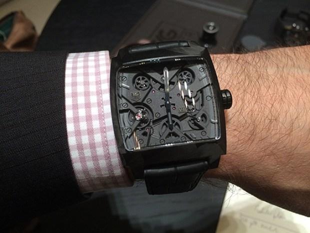 Tag Heure wrist watch on a man's wrist