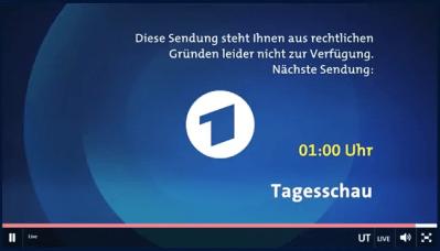 ARD.de blocked