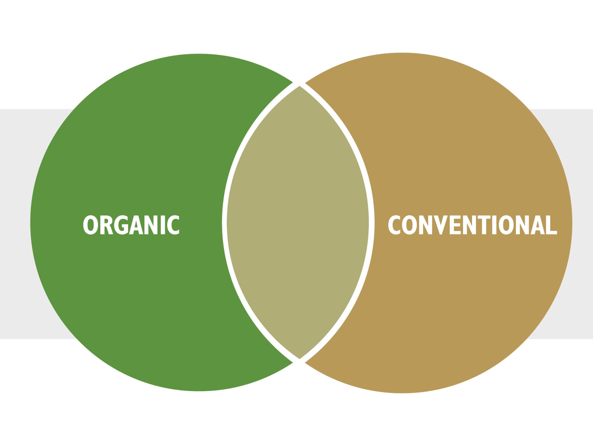 hight resolution of  infographic organic conventional venn diagram