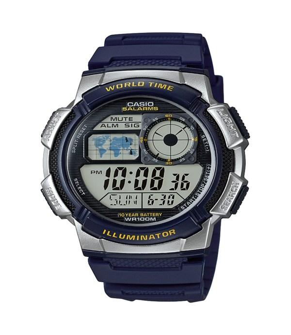 Casio Men' '10-year Battery' Quartz Resin Watch Model