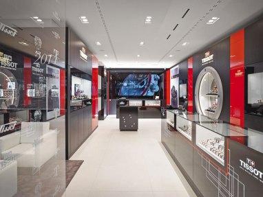 Intérieur de la boutique suisse de Tissot