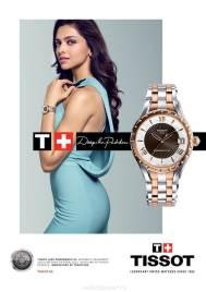 Deepika Padukone dans la campagne publicitaire Tissot